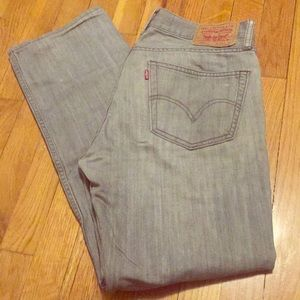 Levi's 505 Straight Fit Gray Jeans 31x32